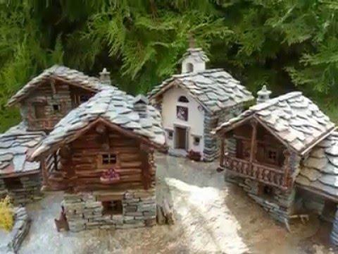 Costruire case di montagna in miniatura  Miniature mountain house  YouTube