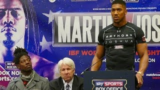 Charles Martin and Anthony Joshua FINAL PRESS CONFERENCE