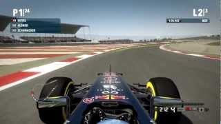 F1 2012 Buddh International Circuit Professional Race Gameplay PC HD