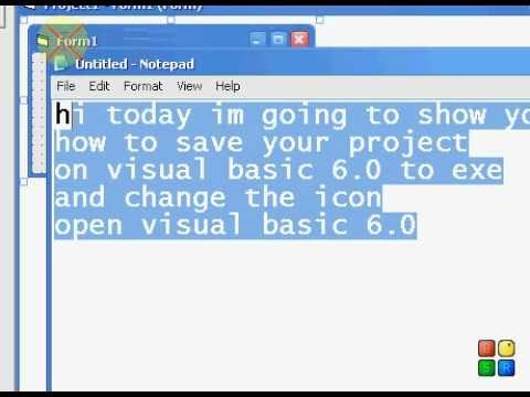 Visual Basic 6 0 - Saving  exe and changing the form Icon