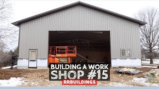 Building a Work Shop: Installing Plywood and Steel on Walls
