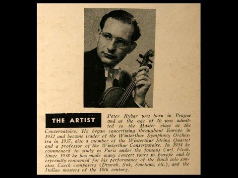 Tartini / Peter Rybar, 1953: Violin Concerto in D Minor (Movement 1)