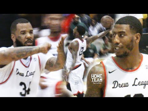 Iman Shumpert & The Game LIGHT IT UP at The Drew League