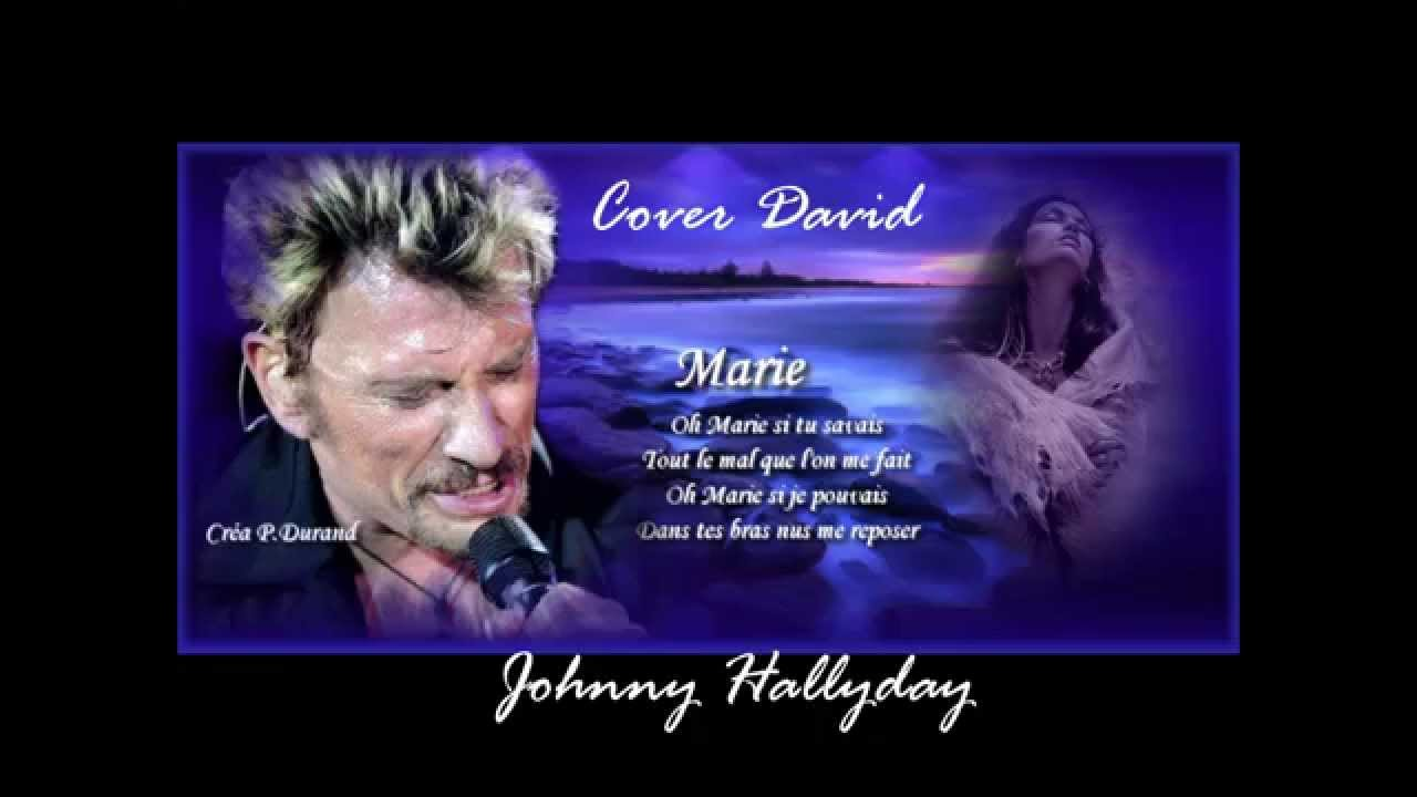 david chante oh marie johnny hallyday youtube. Black Bedroom Furniture Sets. Home Design Ideas