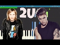 David Guetta Ft Justin Bieber 2U Piano Tutorial Cover Instrumental mp3