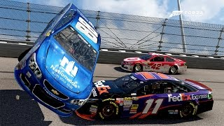1 Race, 2 Wrecks!!!! [Longest Barrel Roll Ever!?!?!?]   Forza Motorsport 6   NASCAR Expansion