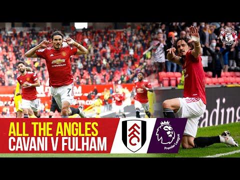 All angles |  Edinson Cavani's impressive chip against Fulham |  United manchester