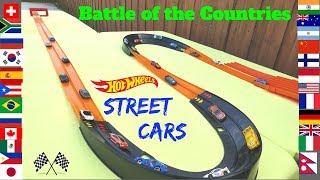 Hot Wheels Street sports cars world battle of the countries double curve tournament race /Best toys