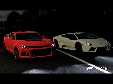 Forza 7 Drag Race: Lamborghini Reventon Vs Chevrolet Camaro ZL1 (2017)