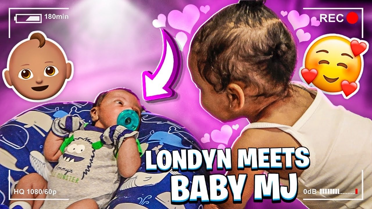 LONDYN MEETS BABY MJ! (WONT BELIEVE HER REACTION)😍