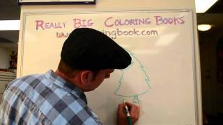 Draw a Christmas Tree with Art Director Matt Darnall at Really Big Coloring Books