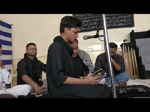 Nauha - Jab Yaad Sakina ko teri aati hai baba - recited by Barqurdar Yujeeb Abbas