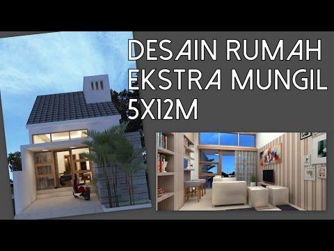 Desain rumah 1 lantai ekstra mungil 5x12m kode 010 YouTube