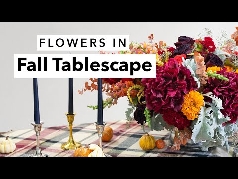 An Elegant Fall Tablescape How-To | Fall DIY Decor with Carly Cylinder
