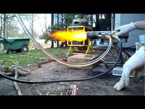 Siphon Oil Burner Running On Waste Motor Oil