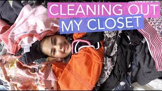 Cleaning Out My Closet Routine | Grace's Room
