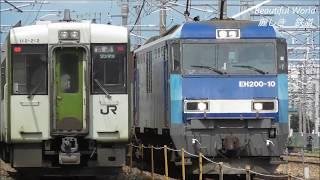 EH200イオン臨時貨物列車&JR長野総合車両センター 2019.7.21  panasd 1295