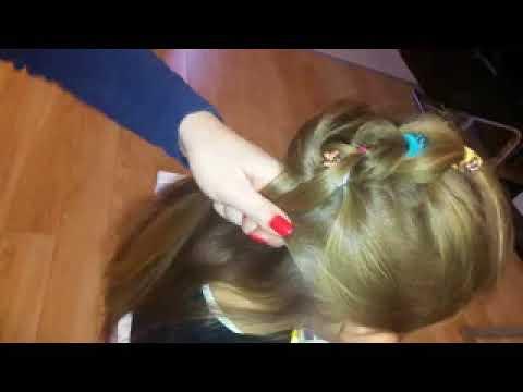 łatwa I ładna Fryzura Dla Dziewczynki Do Przedszkola Szkoły Hairstyle For Girl Or Kids