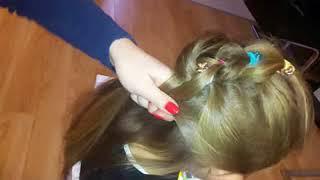 Łatwa i ładna fryzura dla dziewczynki do przedszkola, szkoły. Hairstyle for girl or kids