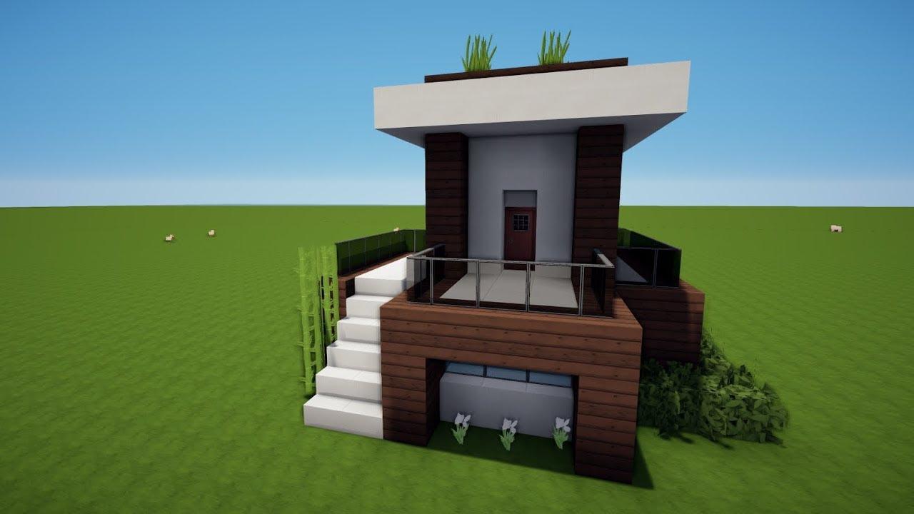 Minecraft kleines modernes haus bauen tutorial haus 105 for Modernes haus bauen