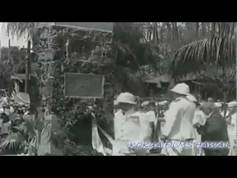 HAWAIIAN HISTORY ON FILM - Unveiling of Captain James Cook monument Kauai, Waimea, Hawaii