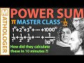 Power sum MASTER CLASS: How to sum quadrillions of powers ... by hand! (Euler-Maclaurin formula)