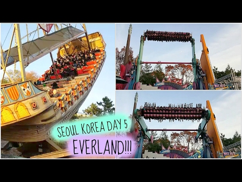KOREA DAY 5 MOST EXCITING RIDES IN EVERLAND THEMEPARK 韓國首爾必玩 愛寶樂園!!