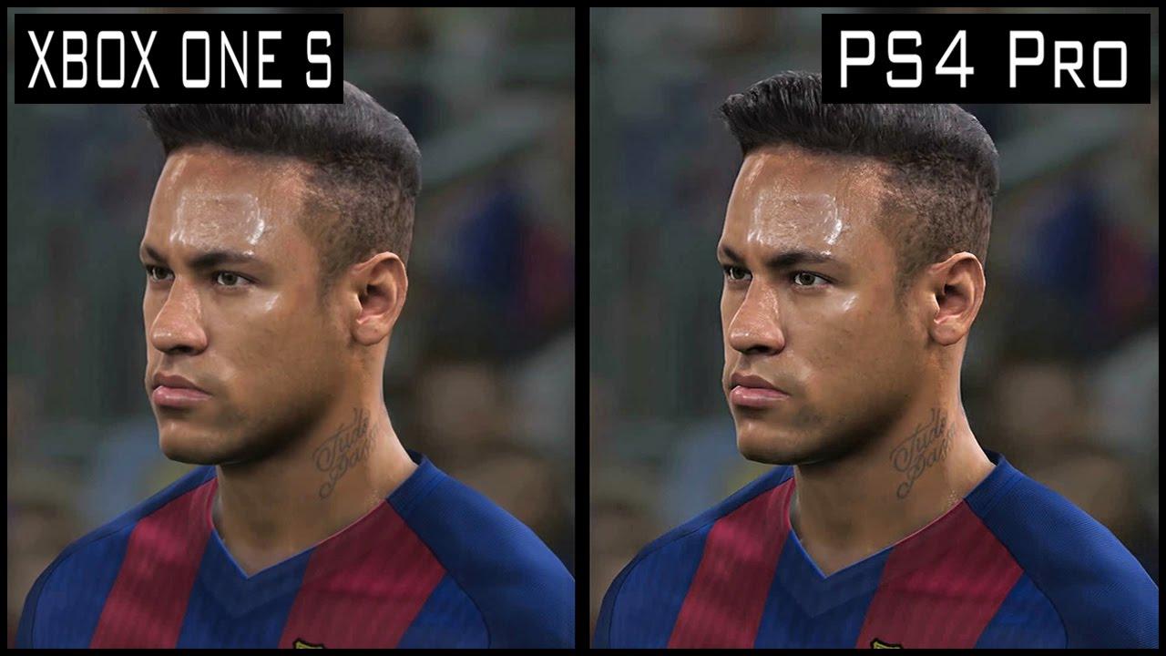 PES 2017 PS4 Pro vs Xbox One s Graphics Comparison - YouTube Xbox One X Vs Ps4 Pro Graphics Comparison