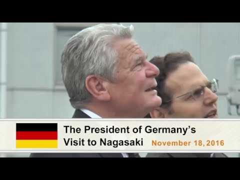 President of Germany visits Nagasaki