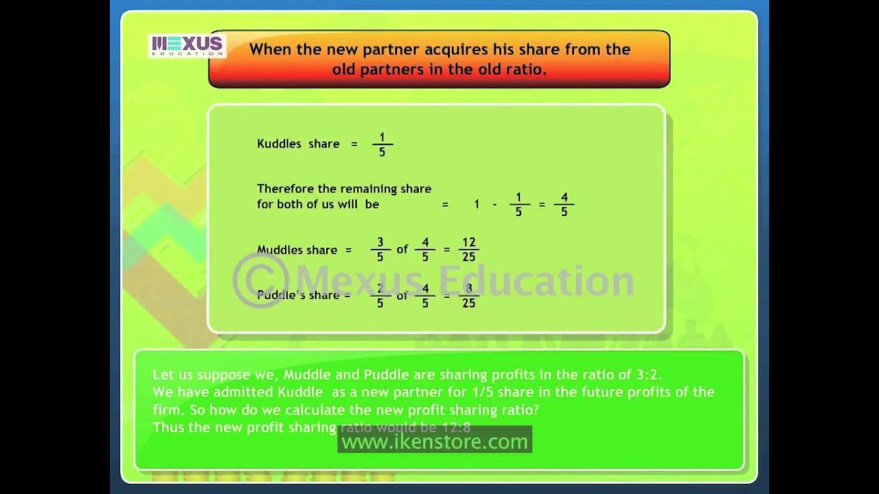 New Profit Sharing Ratio Youtube You Please Give A Simple Diagram Of Human Brain Meritnationcom