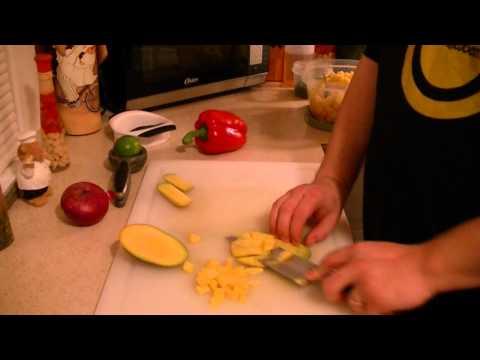 pineapple,mango salsa