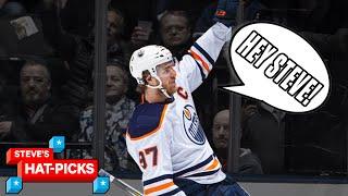 NHL Plays Of The Week: McDavid Torches Toronto!   Steve's Hat Picks