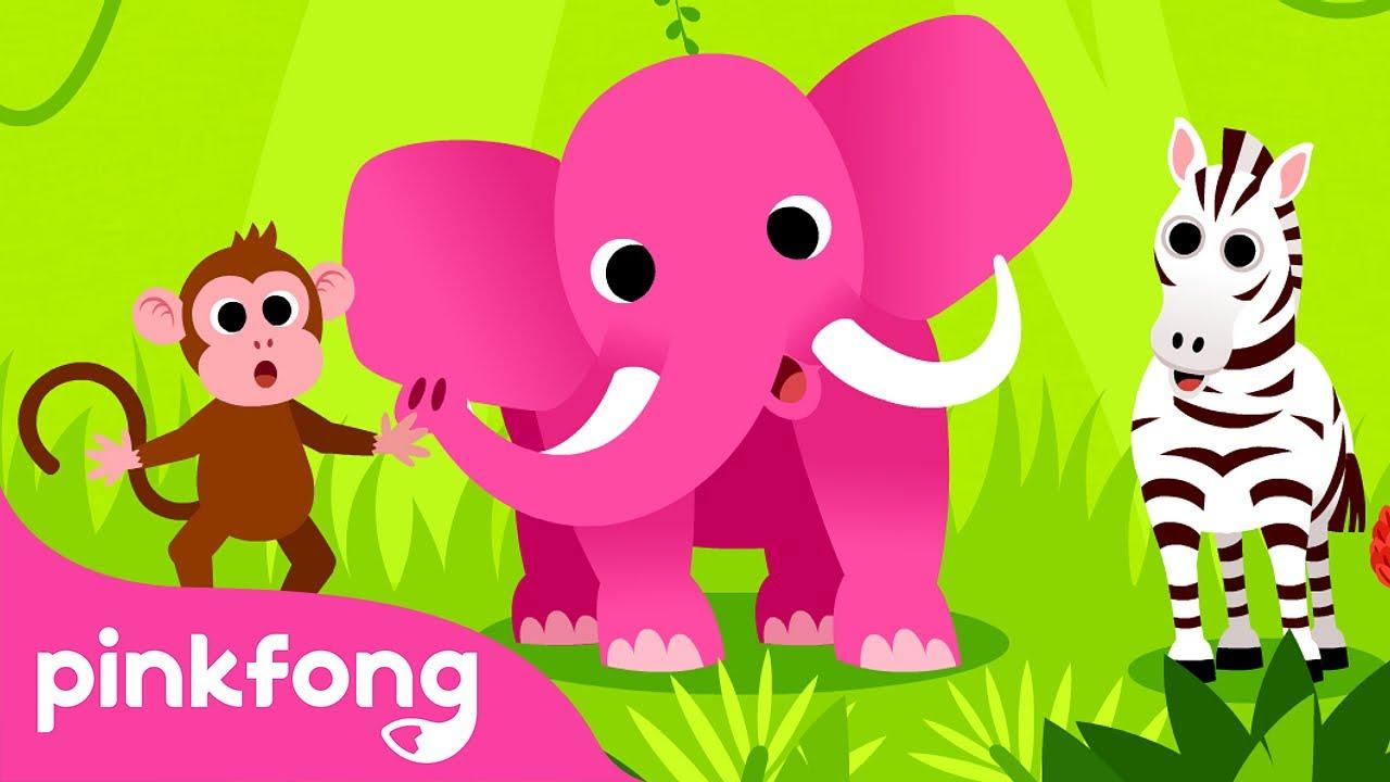 Animales, Animales🐵🐘🦓 | Canciones de Animales | Pinkfong Canciones Infantiles