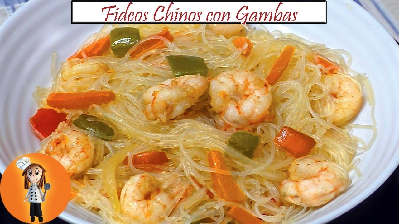Fideos Chinos Con Gambas Receta De Cocina En Familia Youtube