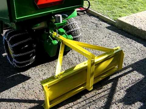 John Deere X300 Rear Snow Blade Lift System First Design
