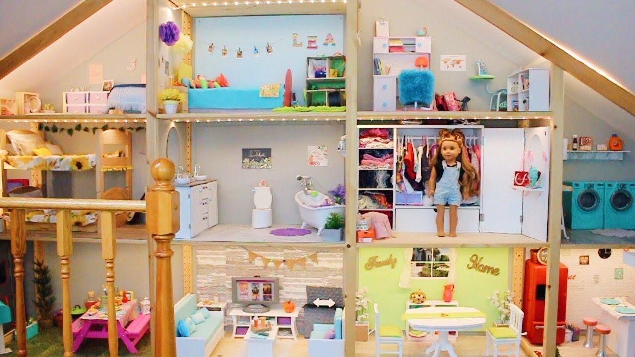 Huge Ag Dollhouse Tour American Girl Doll House Tour New 2019