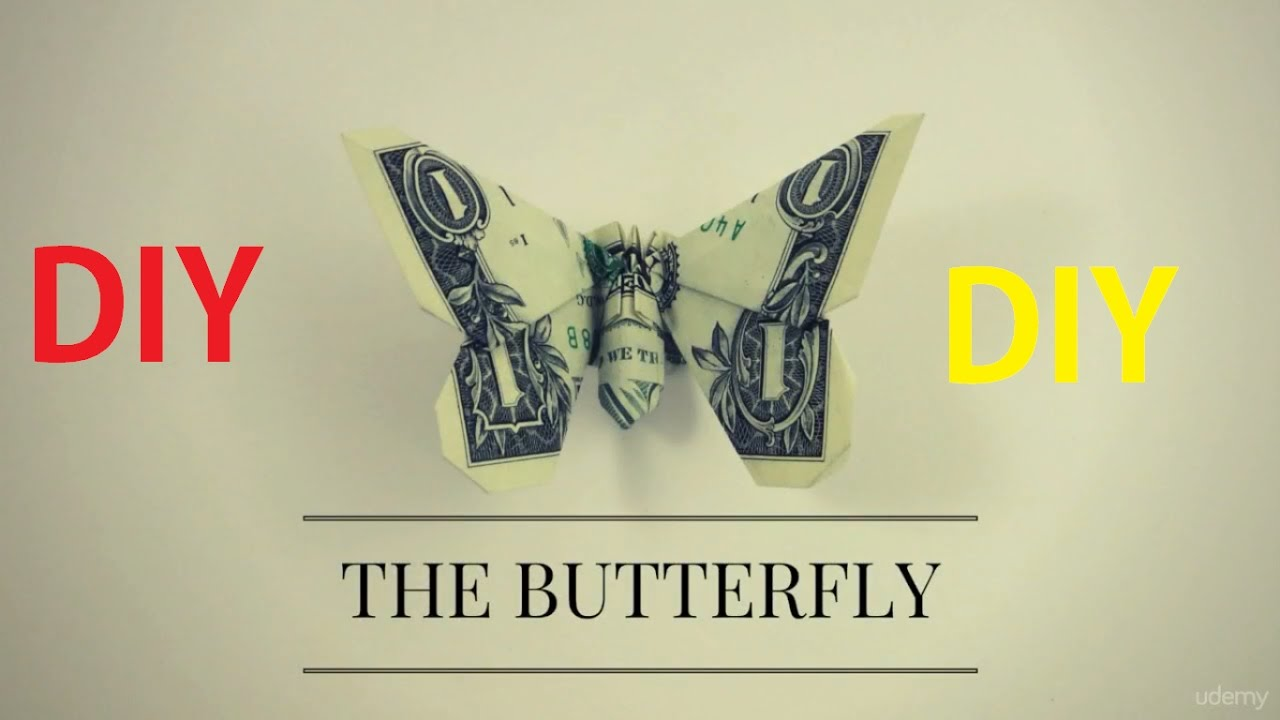 $1 origami butterfly