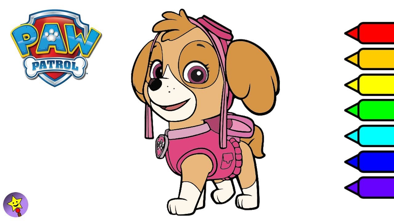 Paw Patrol Coloring Book Page Skye Coloring Book Page