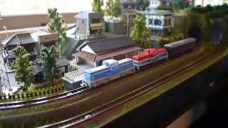 N scale 70cm*40cm mini model train layout