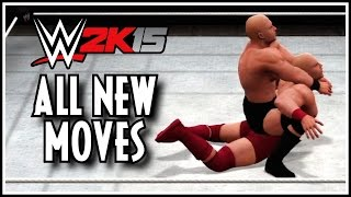 WWE 2K15 - All New Moves In Action! (Very Cool New Moves Added!)
