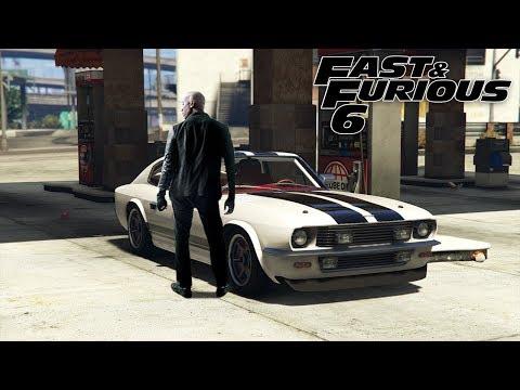GTA 5 ONLINE - FAST & FURIOUS 6 - 1969 FORD MUSTANG FASTBACK (RAPID GT CLASSIC) CUSTOM CAR BUILD