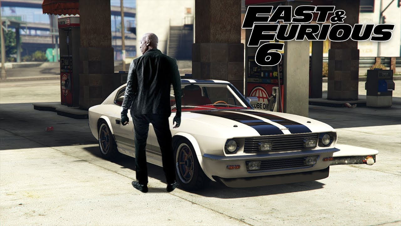 Gta 5 online fast furious 6 1969 ford mustang fastback rapid gt classic custom car build
