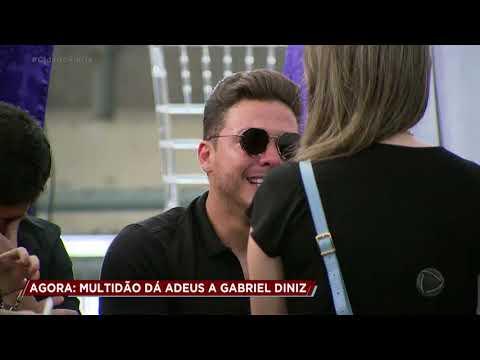 Wesley Safadão se emociona na despedida de Gabriel Diniz