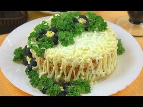 вкусные салаты с красной рыбой рецепты с фото простые и вкусные