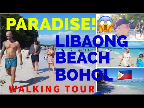 Walking Tour of Libaong Beach Panglao Island 2019 - White Sand Beach in Bohol Philippines