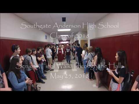 Senior Walk 2018 Southgate Anderson High School
