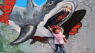 Video Keren!!! LUKISAN 3D di Tembok Mirip Asli. Mural 3D di Kota Tarakan ada Ikan Hiu download MP3, 3GP, MP4, WEBM, AVI, FLV Agustus 2018