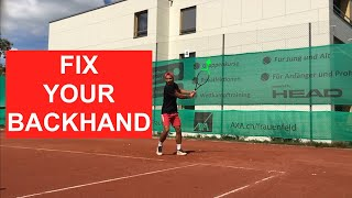 6 checkpoints to hit a solid backhand