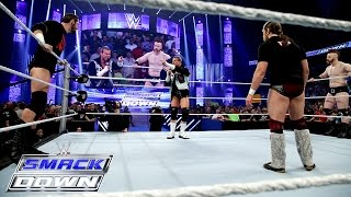chaos opens smackdown as five superstars decide to join daniel bryan smackdown april 9 2015