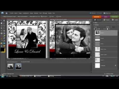 cr er un faire part mariage pas cher avec photoshop partie 3 youtube. Black Bedroom Furniture Sets. Home Design Ideas